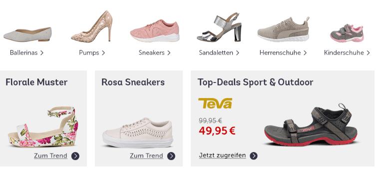 Schuhe bei mirapodo