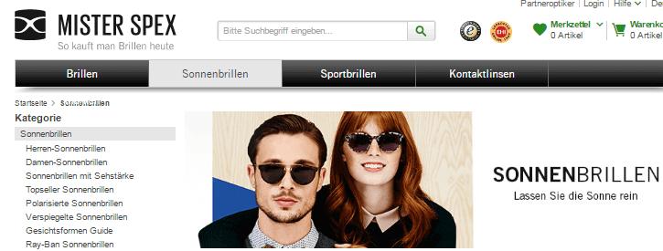 Sonnenbrillen Mister Spex