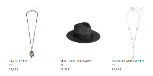 Accessoires bei MORE AND MORE