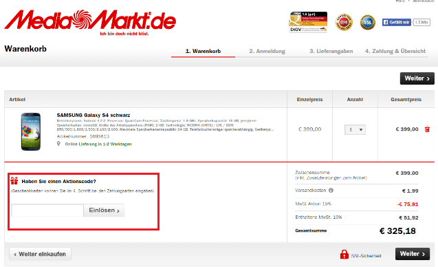 Aktionscode Für Media Markt