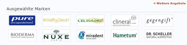 Ausgewählte Marken bei medpex