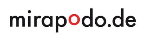 Das Logo von mirapodo