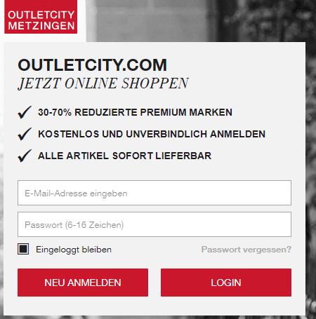 OUTLETCITY METZINGEN Hauptseite