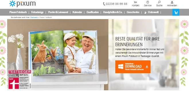 Fotobuch bei Pixum