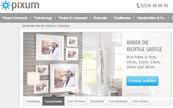 Fotoabzüge bei Pixum