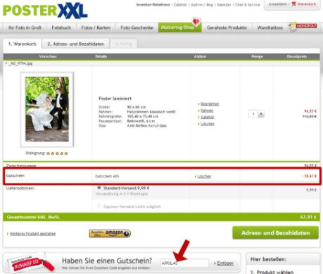 PosterXXL Gutscheincode
