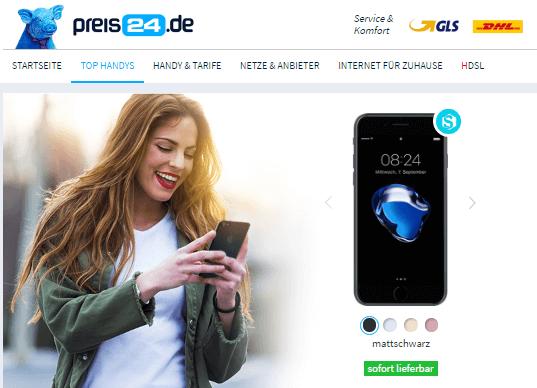Smartphone bei preis24.de