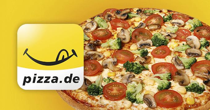 Eine Pizza bei pizza.de