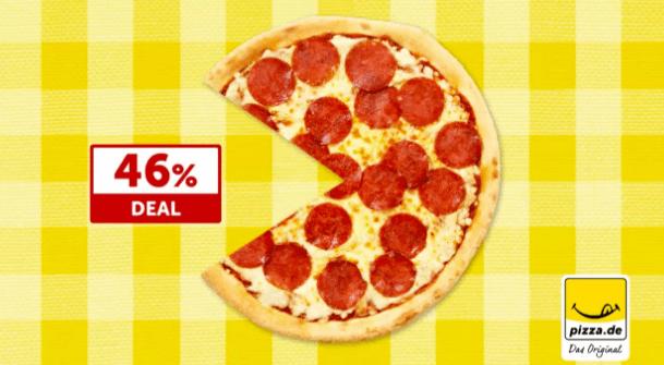 Ein Rabatt auf Pizza -46%