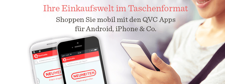 QVC App auf der die Kunden auch Einkaufen können