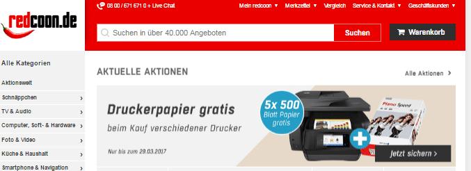 Ein Drucker bei redcoon.de