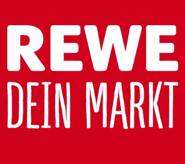 Das Logo von REWE