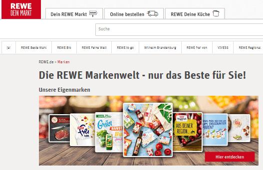 Die bei REWE verfügbaren Marken