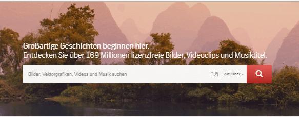 Shutterstock Hauptseite