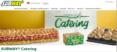 Catering bei SUBWAY