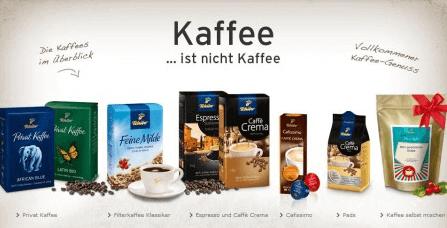 Tchibo verschiedene Kaffee Sorten