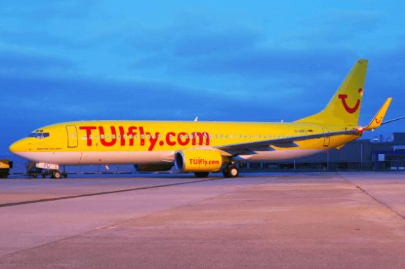 Ein TUIfly Flugzeug
