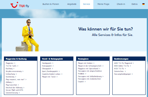 Service bei TUIfly