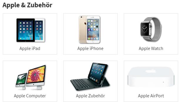 Apple Produkte und Zubehör bei voelkner