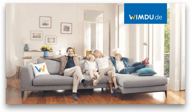 Eine reisende Familie mit WIMDU