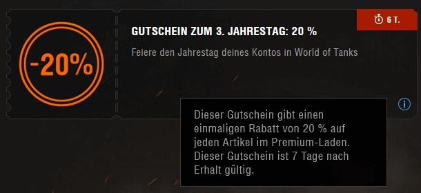 Gutschein World of Thanks