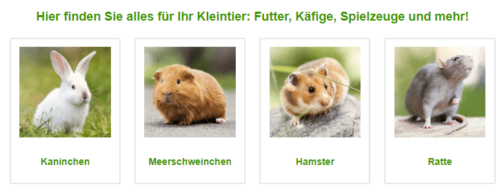 Zooplus - Produkte für Kleintiere