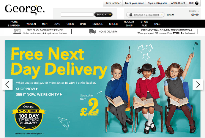 ASDA George online store