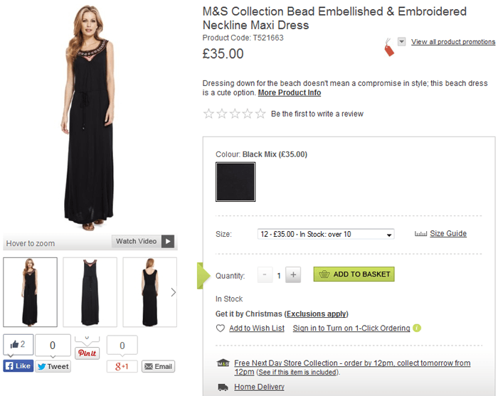 Marks and Spencer products