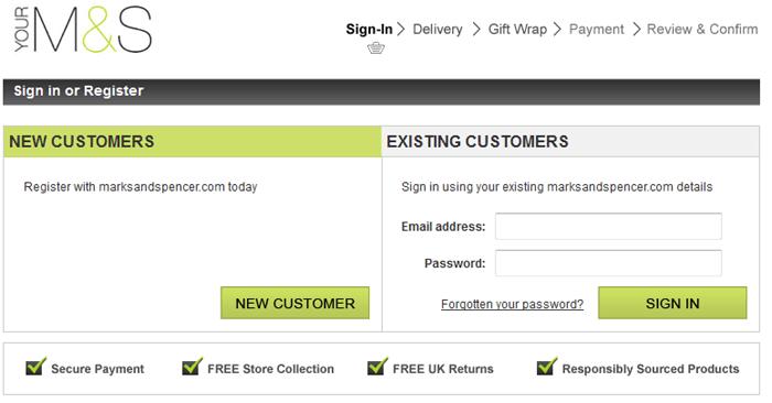 Marks & Spencer registration
