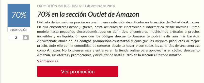 Un Código Descuento Amazon