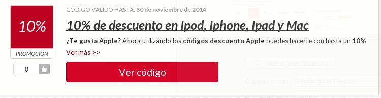 Código descuento Apple - aprovéchalo