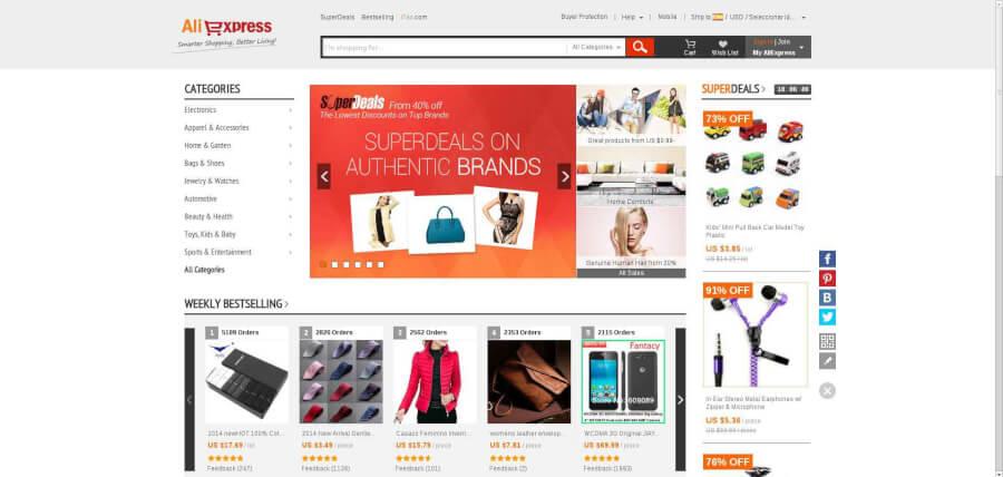 Inmensa variedad de productos con códigos promocionales Aliexpress