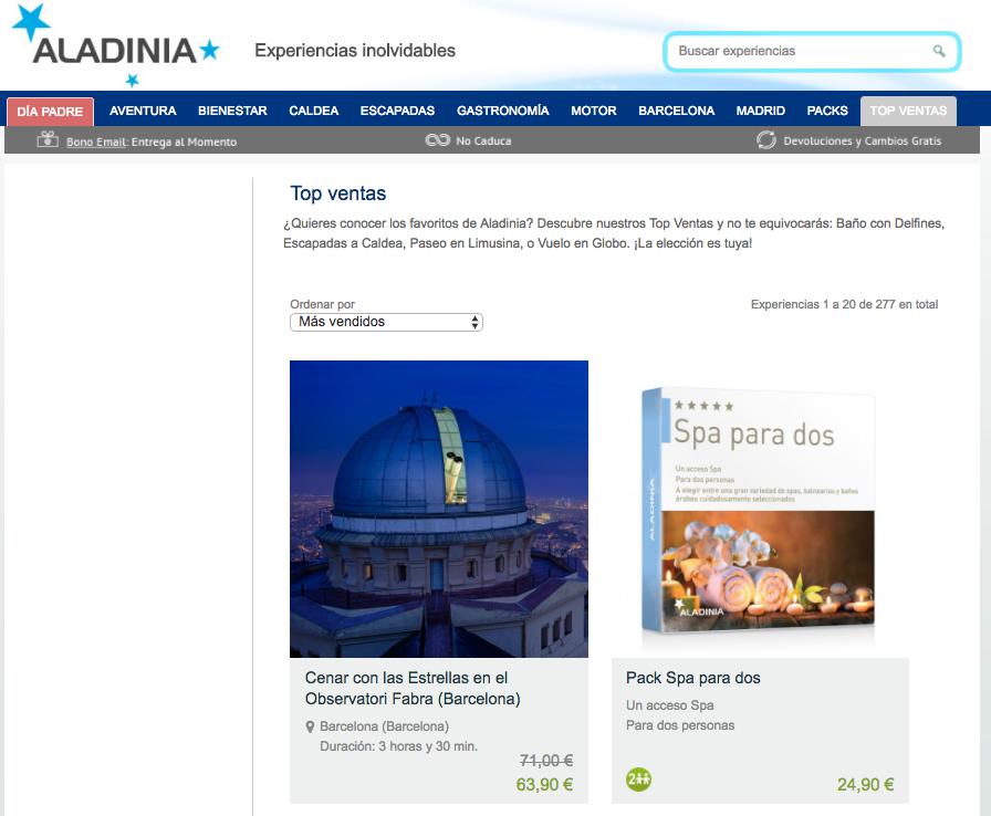 Promociones Aladinia