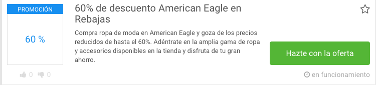 Código descuento American Eagle