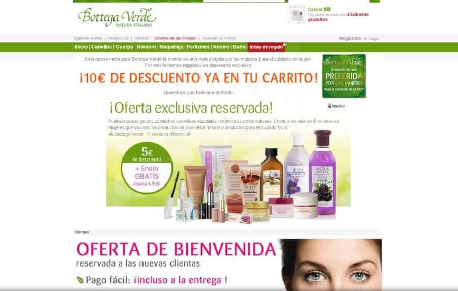 Visita la página web de Bottega Verde y disfruta de los mejores precios en cosméticos