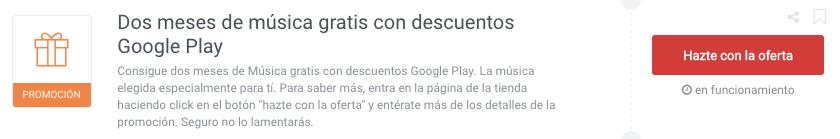 descuentos google play