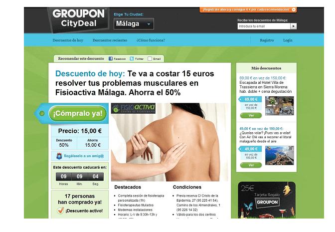 Codigo promocional Groupon en servicios y productos que usted puede pagar mucho menos universalmente accesibles.