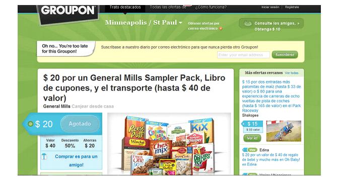 Codigo descuento Groupon ofrecen grandes descuentos para tus compras.