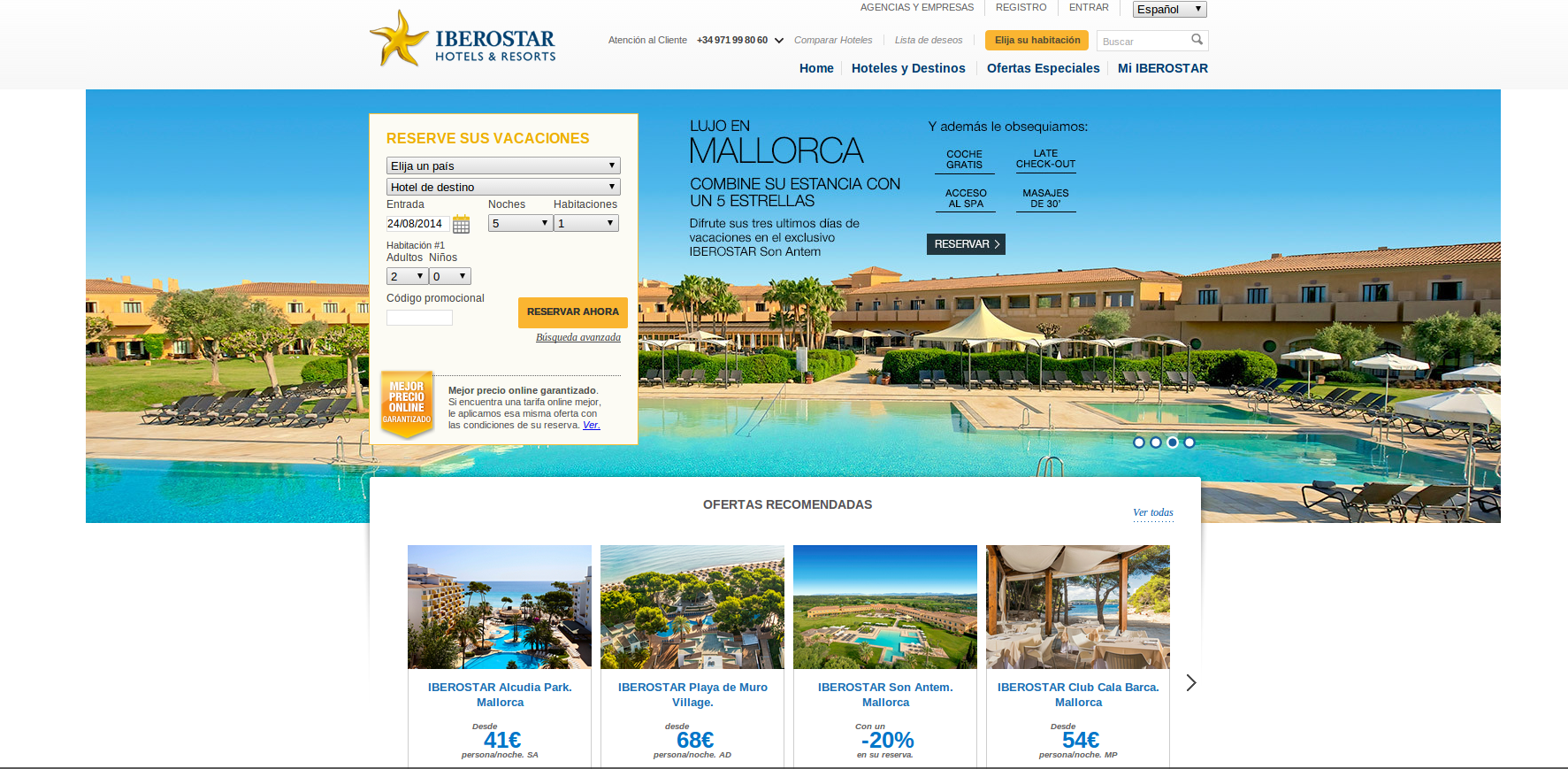Página principal Iberostar - disfruta de las mejores ofertas