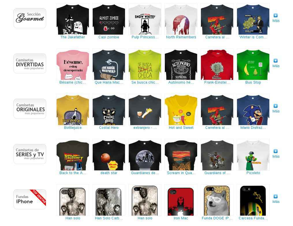 Camisetas baratas en La Tostadora