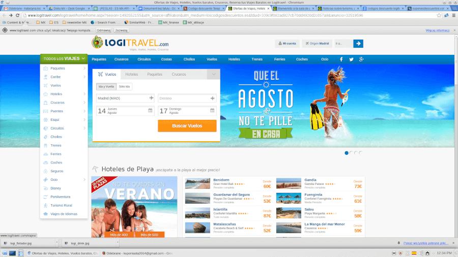 Página principal Logitravel - grandes ahorros en tus vacaciones
