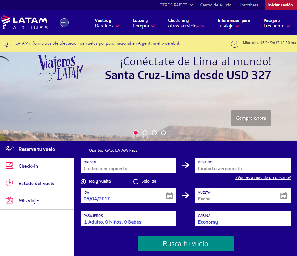 Home Latam Airlines