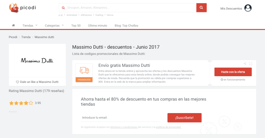 descuentos de Massimo Dutti