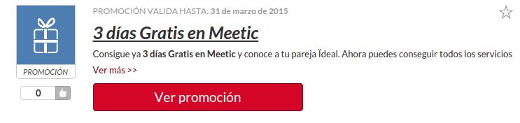 Codigo promocional de Meetic