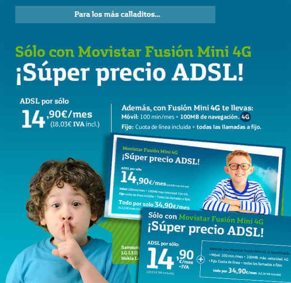 Ofertas en ADSL con códigos promocionales Movistar