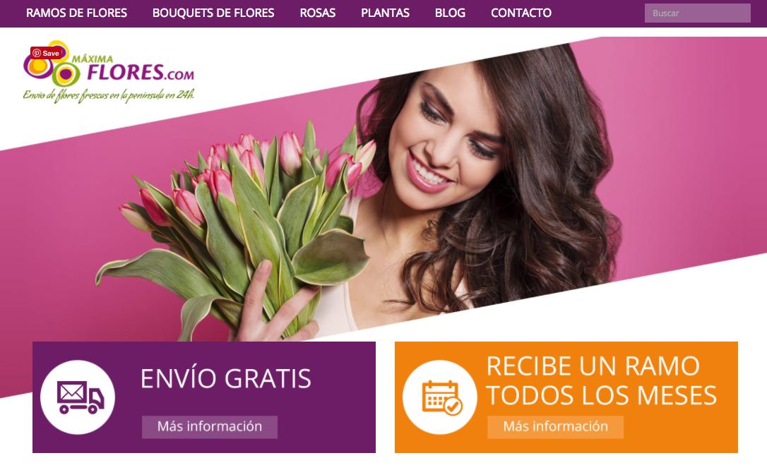 pagina de inicio maxima flores