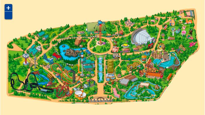 mapa del parque de atracciones
