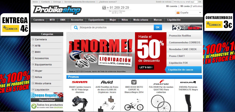 Probikeshop ofrece una multitud de ofertas y promociones
