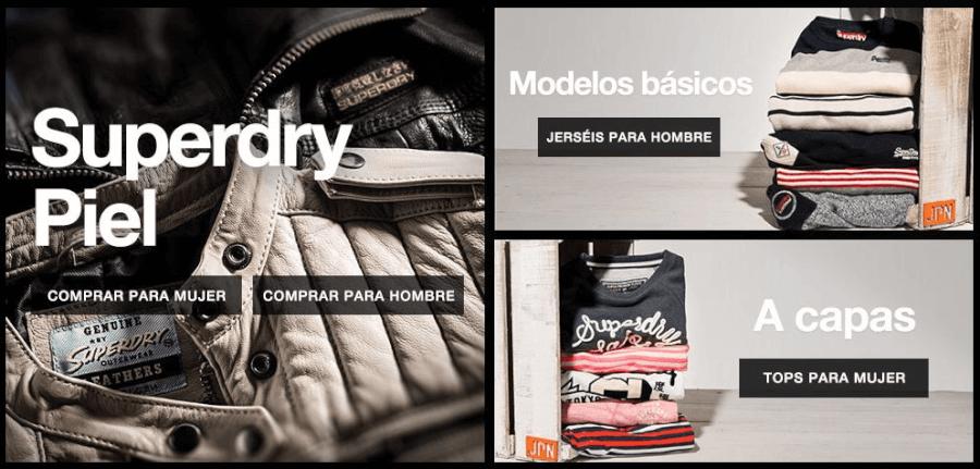 Superdry ofrece un amplio catalogo de prendas muy de moda.