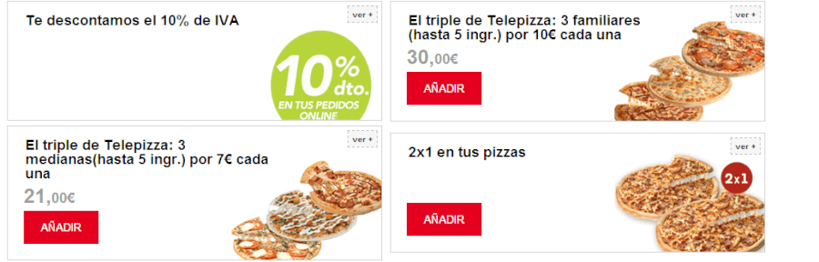 Oferta promocional esta siempre actual en nuestra página web. Entra y coge un código promocional Telepizza.